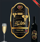 Luxury golden wine label template. Luxury golden wine label vector illustration Royalty Free Stock Images