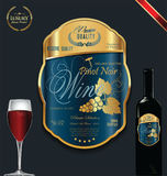 Luxury golden wine label template Royalty Free Stock Photo