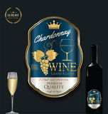 Luxury golden wine label template Royalty Free Stock Images