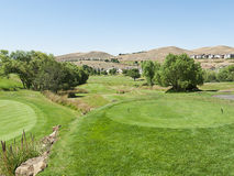 Luxury golf course in California hills Royalty Free Stock Images