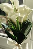Luxury gorgeous wedding bouquet with white calla and lily for br. Ide Stock Photography