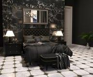 Luxury Goth Living room stock photos