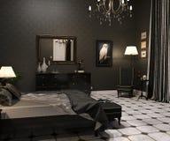 Luxury Goth Living room stock image