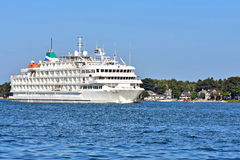 Luxury Great Lakes Cruise ship in Michigan Royalty Free Stock Photography