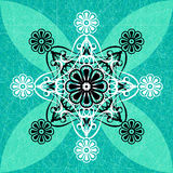 Luxury Green Floral Pattern Background. The Graphic Design Luxury Green Floral Pattern Background Stock Photo