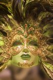 Luxury green gold mask Royalty Free Stock Photography