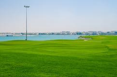 Luxury golf field royalty free stock image