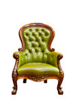 Luxury green leather armchair Stock Photos