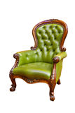 Luxury green leather armchair Royalty Free Stock Photography