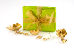 Luxury green present Royalty Free Stock Photo