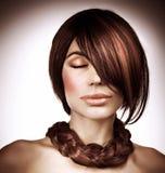 Luxury hair style Royalty Free Stock Image