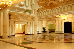 Luxury hall. A luxurious hall in Sharjah Royalty Free Stock Photos