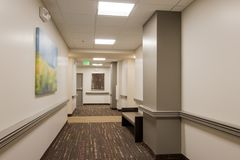 Office Building Carpeted Hallway Royalty Free Stock Image