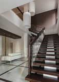 Luxury hall interior with staircase Royalty Free Stock Images
