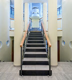 Luxury hall with staircase Stock Photos
