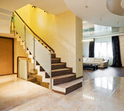 Luxury hall with staircase Royalty Free Stock Photography