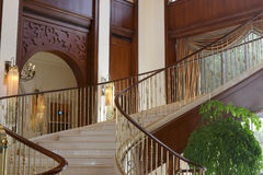 Luxury hall stairs Stock Photos