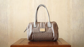 Luxury Hand Bag On a Table Royalty Free Stock Images