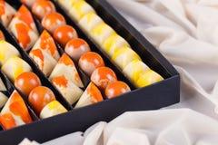 Luxury handmade chocolate candies in gift box Stock Photo
