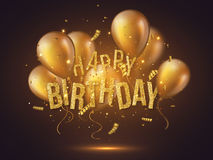 Luxury happy birthday design. Stock Photo
