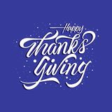 Luxury Happy thanks giving lettering vector illustration
