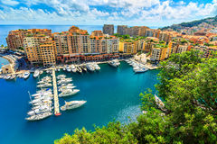 Luxury harbor and colorful buildings,Monte Carlo,Monaco,Europe Royalty Free Stock Photography
