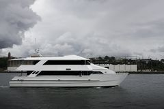 Luxury harbour cruiser on the water Stock Photography