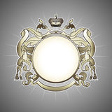 Luxury heraldic frame stock illustration