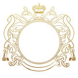 Luxury heraldic frame royalty free illustration