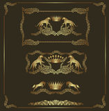 Luxury heraldic golden set Royalty Free Stock Photo