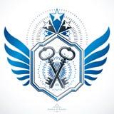 Luxury heraldic vector emblem template. Vector blazon. Royalty Free Stock Photos