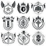 Luxury heraldic vectors emblem templates. Vector blazons. Classy Stock Photo