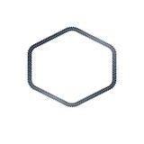 Luxury hexagonal frame with empty copy-space, classic heraldic   Stock Photos