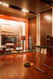 Luxury hifi studio interior Stock Photos