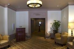 Luxury historic hotel lobby stock photo