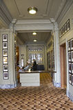 Luxury historic hotel lobby royalty free stock photo