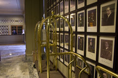 Luxury historic hotel lobby stock photos