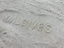 Maldives beach impression - postcard style Stock Images