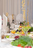 Luxury holiday table. With drinks Stock Image