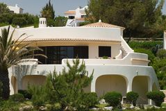 Luxury Holiday Villa. Luxury Mediterranean holiday villa in the hills stock photos
