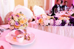 Luxury holiday or wedding  table Royalty Free Stock Photos