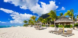 Luxury holidays in Paradise island Mauritius Royalty Free Stock Photos