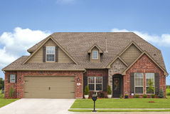 Luxury Home. Luxery home in expensive neighborhood Royalty Free Stock Photos