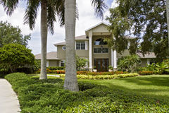 Luxury home. Luxurious home with large front yard Royalty Free Stock Images