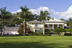 Luxury Home. Large luxury home with manicured yard Stock Photography
