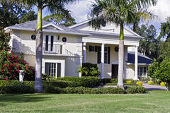 Luxury Home. Large luxury home with manicured yard Stock Photos