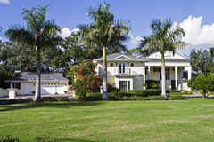 Luxury Home. Large luxury home with manicured yard Royalty Free Stock Photo