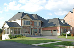 Luxury Home. Large luxury home in a residential development Stock Photo