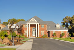 Luxury Home. In the summer Royalty Free Stock Photography