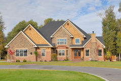Luxury Home. In the summer Stock Photos